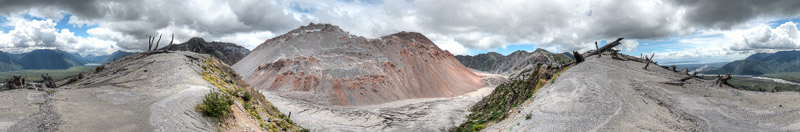 360 degree panorama from the rim of the Caldera of the Chaitén