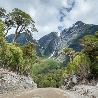 The Carretera Austral crossing the Queulat National Park