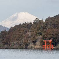 Fuji-san with Hakone Shinto Shrine